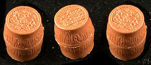 Marx Recast 54mm - 3 Gunpowder Barrels -  54mm unpainted plastic toy soldiers