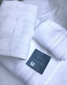 MONOGRAMMED 3 PCS.TOWELS SET - WHITE - FROM CHARISMA / 100% HYGRO COTTON