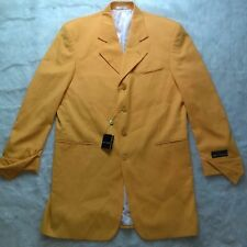 NWT STACY ADAMS Mustard ZOOT Style Curtis Cuff Mens Long Suit Coat SZ 46L