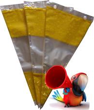 50 gelbe Dreiecks-Spitztüten,dick. Cellophan-Tüten,Spitzbeutel,Bonbontüten,NEU