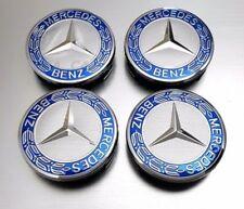 Juego de 4 tapabujes Mercedes, 75mm, Tapa llantas, Centro de Rueda, Tapacubos.