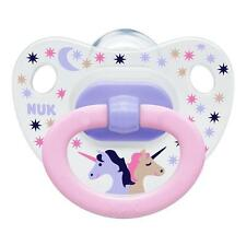 NUK Happy Days Orthodontic Silicone Soother 2pk Unicorn 0 6m