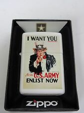 Zippo I want You! US Army Enlist Now Abraham Lincoln Marines WK2 WWII Nose Art