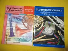 Lot 2 clarinet band books: Yamaha Advantage 2 Standard Excellence level 2