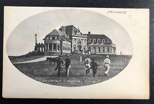 Vintage Golf 1905 Postcard Newport Country Club Clubhouse Rhode Island