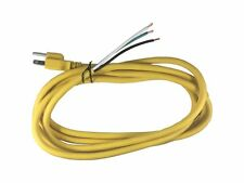 Bybon 14/3 AWG 3 Prong AC Replacement Power Cord, Open End, 15 Amp, 10 FT