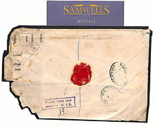 More details for gb cover rare damaged registered mail *found open* 1902 newport mon theft? ms451