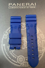 NEW OEM 24MM BLUE RUBBER STRAP FOR PANERAI WATCH ACCORDION