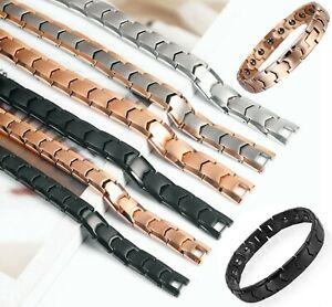 Titan Armband Herren Frauen Magnetfeld Gesundheit Gewicht Abnehmen Energie Mode