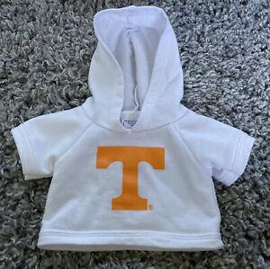 Build A Bear BAB Tennessee Sports Hooded Shirt White Orange Hoodie