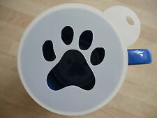 Laser cut paw print coffee and craft stencil