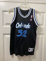 Vintage Champion Orlando Magic Shaquille O'Neal Kids L14-16 Jersey Throwback NBA