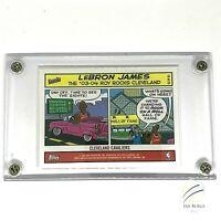 2004 05 LEBRON JAMES TOPPS BAZOOKA COMIC STRIP CARD #10 In 4 Screw Lucite Case