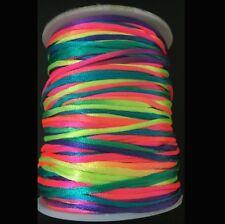 Rainbow 1.5MM Rattail Satin Cord Macrame Beading Nylon kumihimo String 10ya
