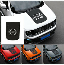 Vinyl Hood Carbon Fiber Sticker Decal For Jeep Renegade 2015 2016 2017
