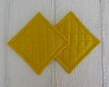 Bright Yellow Quilted Coaster, Trivet,Pot Holders,Hot Pad - Set of 2