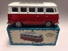 VW BUS RED & WHITE PENCIL SHARPENER NEW