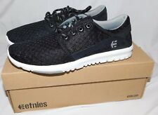 Etnies Scout Black White Shoes Size 8.5 Brand New