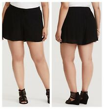85decda1b42 Torrid Black Crepe Lace up Shorts Plus Size 0x Aka 12  57151