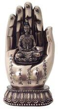 "7"" Quan Yin on Palm Kwan Yin Statue Eastern Deity Hand Figure Buddhism"