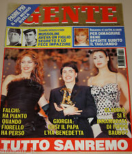 GENTE=1995/10=FESTIVAL SANREMO=GIORGIA TEODRANI=ANNA FALCHI=MADONNA=CUCCARINI=