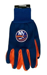 New York Islanders NHL Ice Hockey 2 Tone Mens Gloves