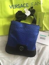 New Luxury  Summer Shoulder Bag Men's Versace Size Small Blue and Black