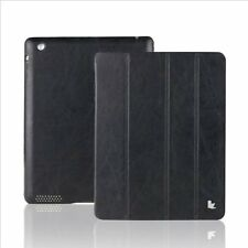 Jisoncase Vintage Genuine Leather iPad 2,3&4 Case Smart Cover JS-IPD-06A10 Black