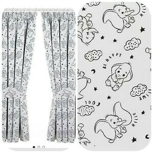 Baby Boy Nursery Blackout Curtains White 66wX54D Baby Room Wall Decor