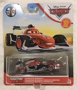 2021 Disney Pixar Cars Diecast Racing Red Francesco Bernoulli Metal HTF Rare New