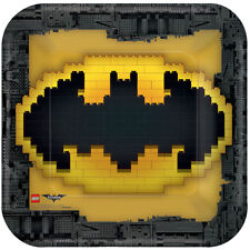"""Batman Lego Movie Party Plates Square Paper 9"""" Pack of 8"""