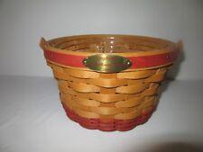 Longaberger 2002 Woven Memories Basket w Protector