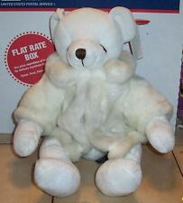 "bearella bear in Faux Fur jacket 12"" Plush Stuffed Animal Russ Berrie"