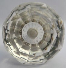 wardrobe & cupboard pulls cabinet door knobs extra large clear cut glass 62 mm