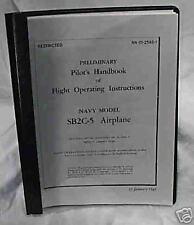 USN SB2C-5 Helldiver Dive Bomber Pilots Handbook