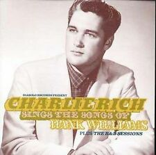 CHARLIE RICH - Sings The Songs Of Hank Williams / The R&B Sessions CD  2 ON 1 !!