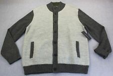 TOMMY HILFIGER Mens HEATHER GRAY 2-TONE SOFT WOOL CARDIGAN SWEATER NWT  L  $199
