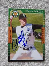 Kansas City Royals Chase Boruff Signed 2011 Kane County Cougars Auto Card
