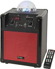 IBIZA KUBE - 60 ALTOPARLANTE PORTATILE BLUETOOTH USB RGB LED ASTRO DJ PARTY telecomando inc