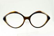 Vintage 1950's 60's Midnight Amber Shine Eyeglass Frames Hand Made Nos Deadstock
