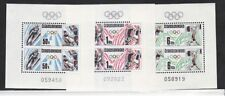 Czechoslovakia Sc 2687-9 NH Minisheets of 1988 - Olympics