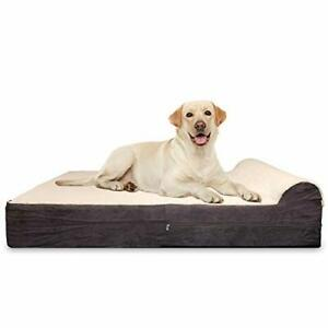 KOPEKS 7-inch Thick High Grade Orthopedic Memory Foam Dog Bed with Pillow and...