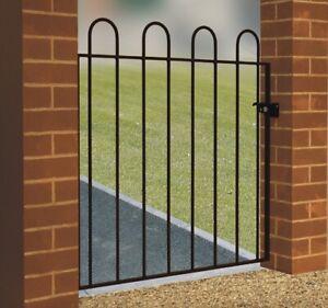 Hoop Top Garden Gate 1000mm GAP x 950mm H galvanised wrought iron metal swing