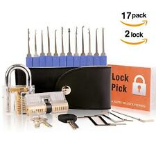 Pick Lock Conjunto de 17 piezas de herramientas de picking de bloqueo * Nuevo *