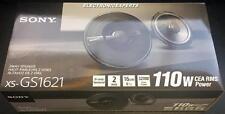 "SONY XS-GS1621 6.5"" 6.75"" 2 Way Coax Car Speakers MRC Kevlar Woofer Dome Tweeter"