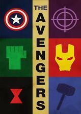 The avengers-logos affiche A4 wall art
