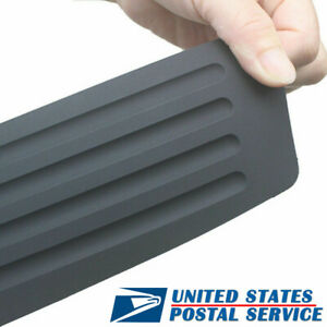Universal For Rubber Car Rear Bumper Protector Trunk Sill Guard Scratch Pad Kit