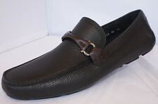 New Salvatore Ferragamo Men's Shoes Granprix Size 11 EE Black Loafers