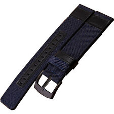 24mm Military Army Blue Nylon Fabric Canvas Watch Band Strap Black Buckle