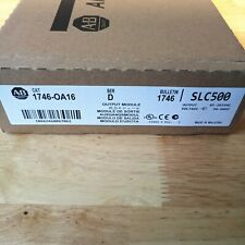 New Factory Sealed Allen Bradley 1746-OA16 SER D SLC 500 Output Module 17460A16